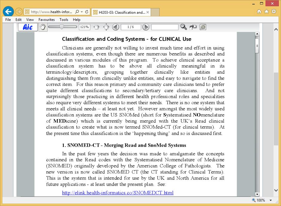 Health Informatics Certificate
